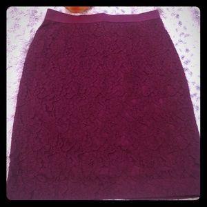 Ann Taylor Lace Pencil Skirt - Sz 0